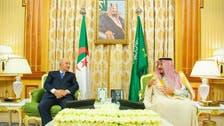 خادم الحرمين يبحث المستجدات الدولية مع رئيس الجزائر