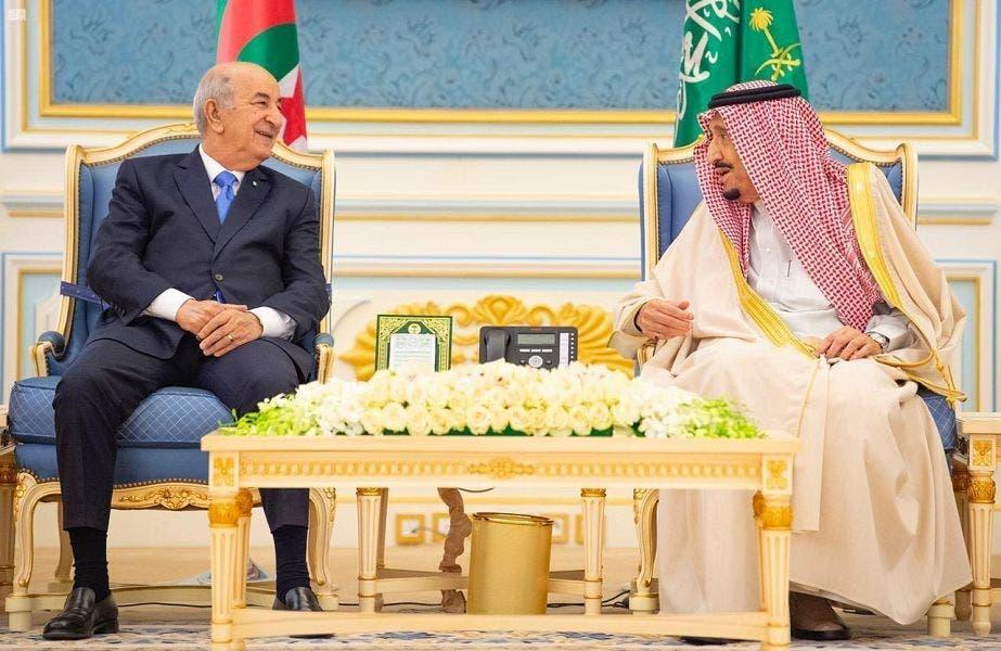 Saudi Arabia's King Salman meets with Algerian President Abdelmadjid Tebboune 2