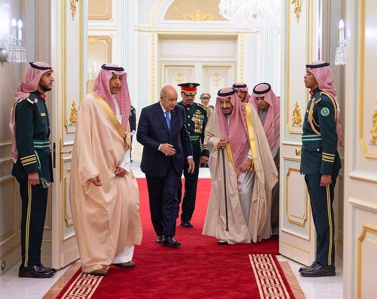 Saudi Arabia's King Salman meets with Algerian President Abdelmadjid Tebboune 3