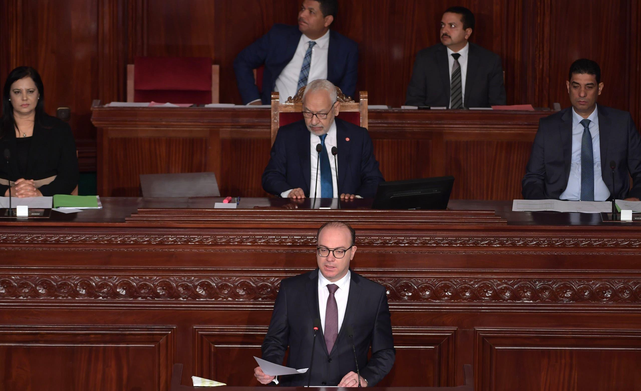 الفخفاخ في البرلمان (27 فبراير 2020-فرانس برس)