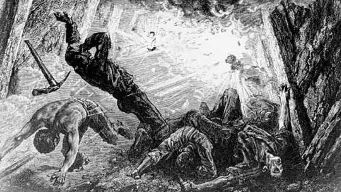 رسم تخيلي لانفجار بأحد مناجم الفحم