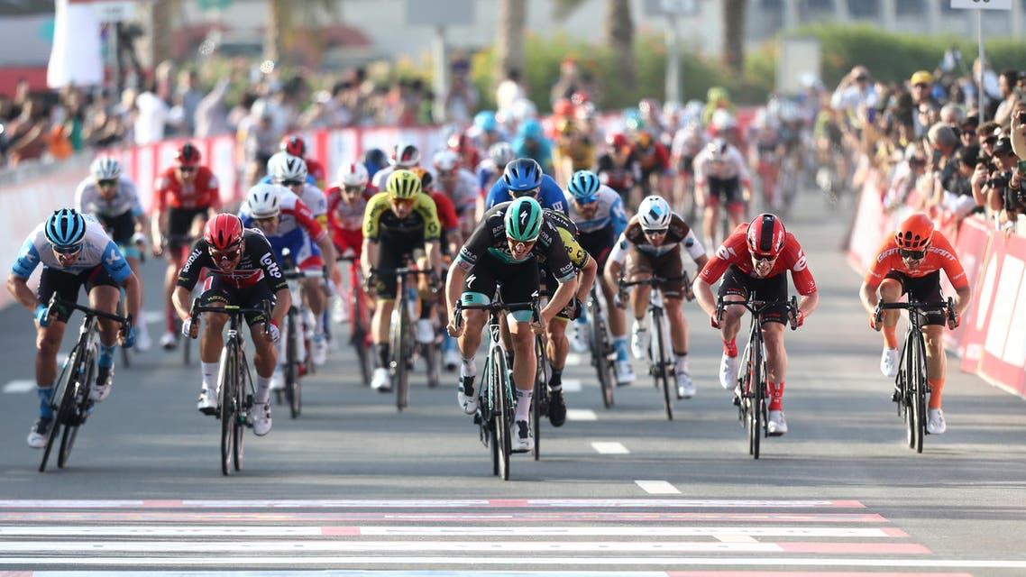 Participants in the 2020 UAE Tour. (Reuters)