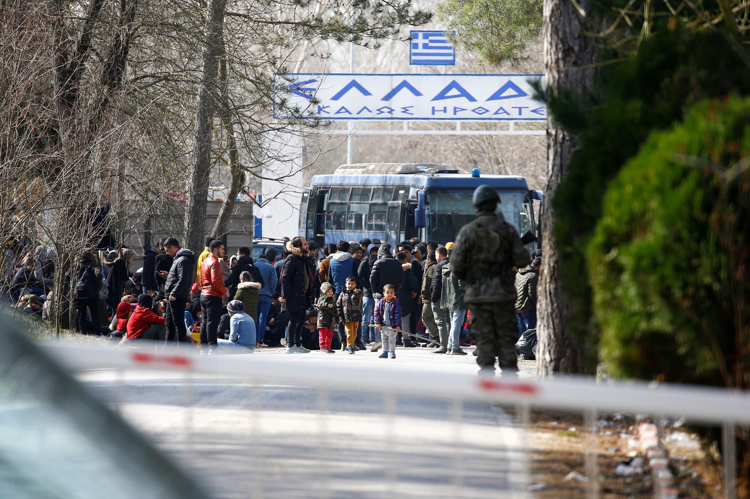 تدفق الهاجرين على الحدود التركية اليونانية