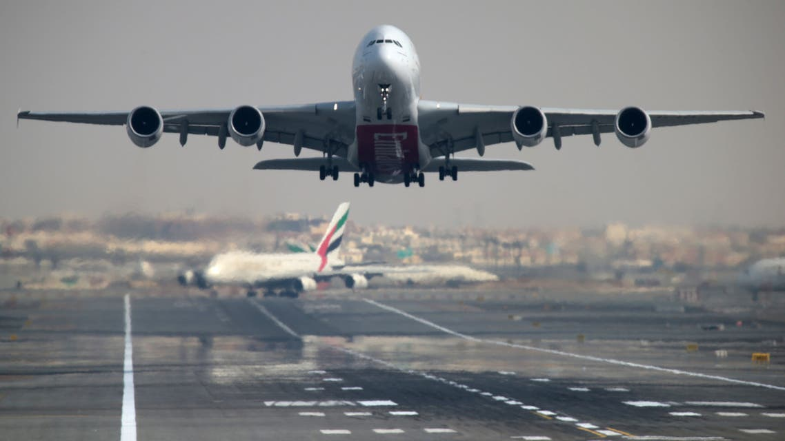 An Emirates Airline Airbus A380-800 plane takes off from Dubai International Airport in Dubai, United Arab Emirates February 15, 2019. REUTERS/Christopher Pike