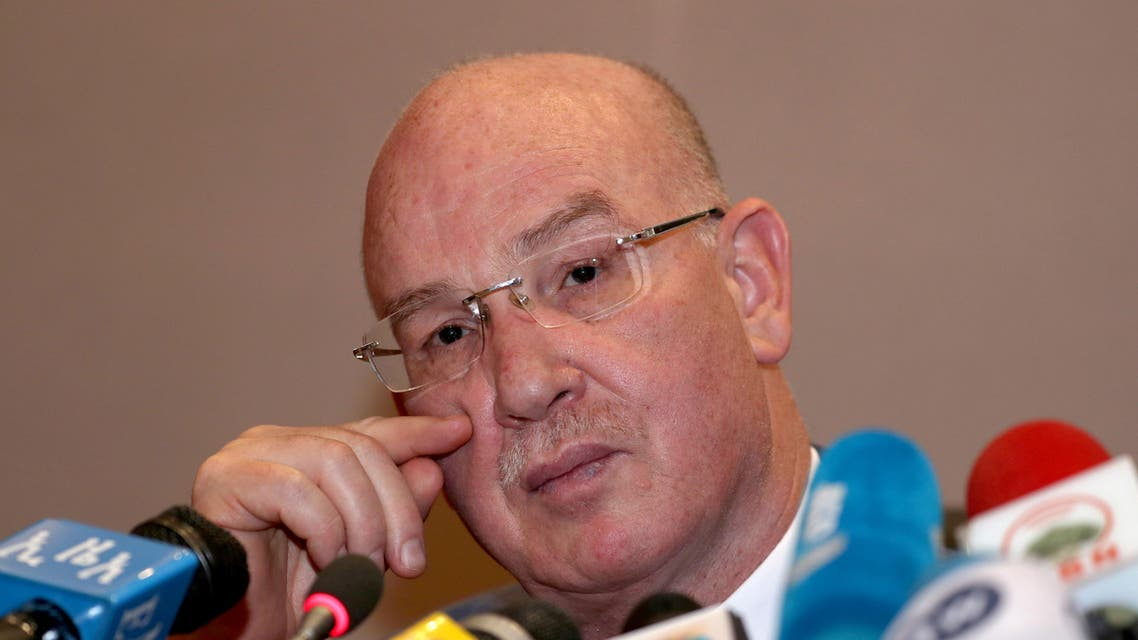 Smail Chergui, African Union (AU) Commissioner for Peace and Security attends a news conference during the African Union Summit in Addis Ababa, Ethiopia in 2019. (Reuters)
