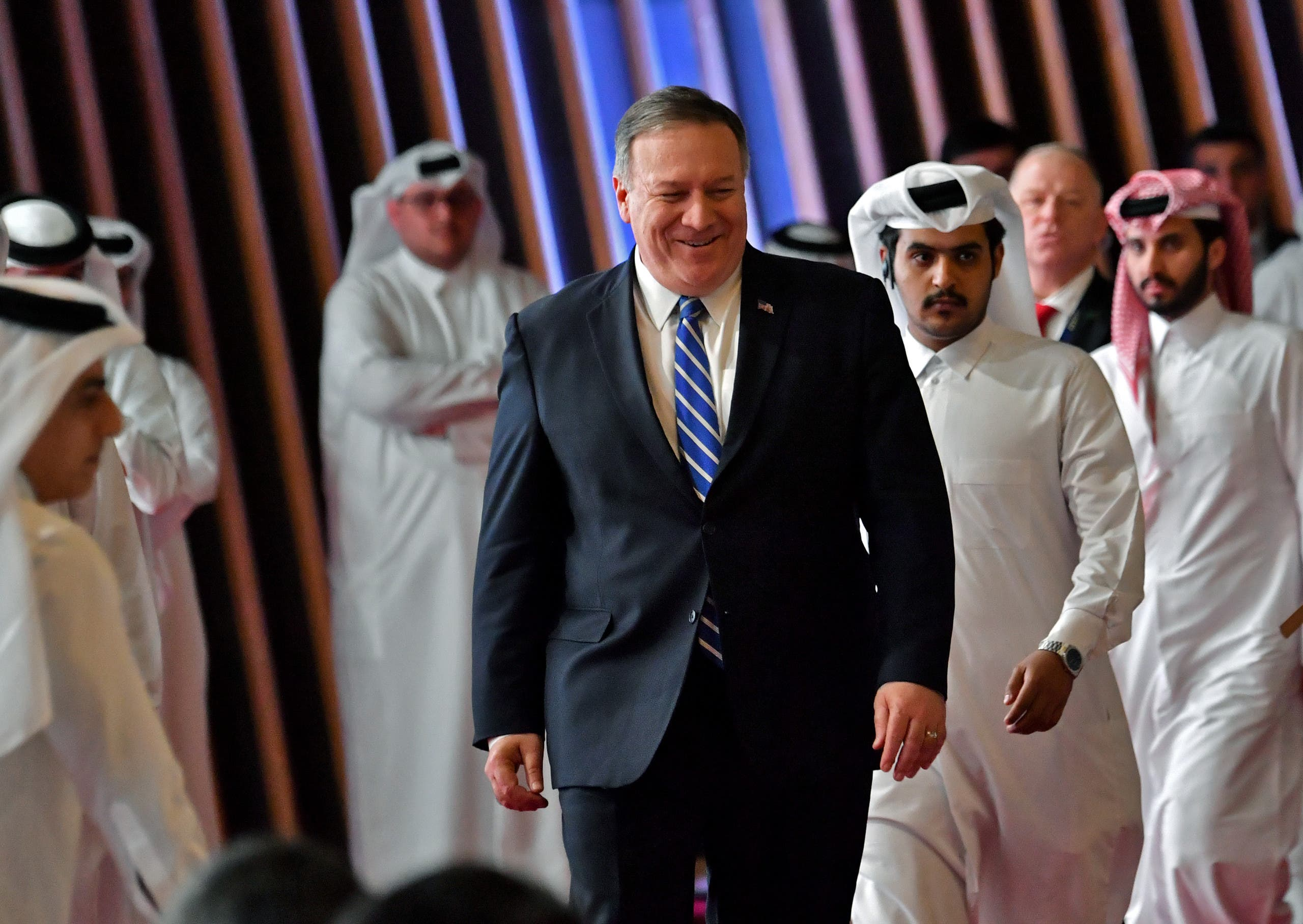 US Secretary of State Mike Pompeo arrives to the signing of a US-Taliban agreement. (File photo: Reuters)