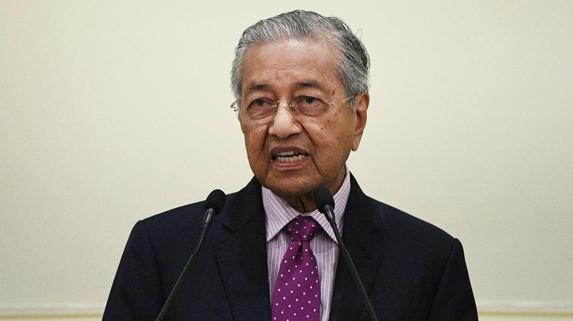 Mahathir Mohamad speaks as he unveils an economic stimulus plan aimed at combating the impact from the novel coronavirus in Putrajaya on February 27, 2020. (AFP)