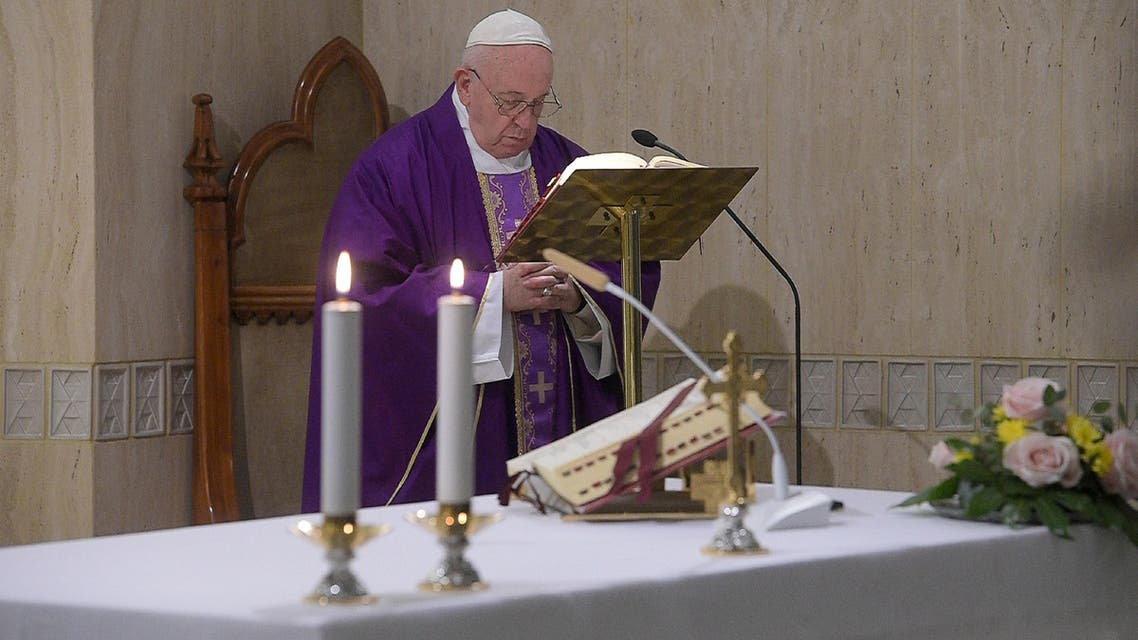 Pope Francis leads the daily Santa Marta Mass at the Vatican, February 27, 2020. (Reuters)