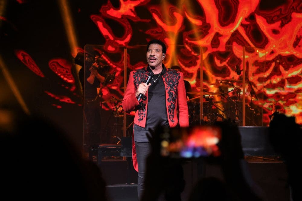 Lionel Richie pictured during his concert at the Maraya hall in AlUla, Saudi Arabia. (Supplied)