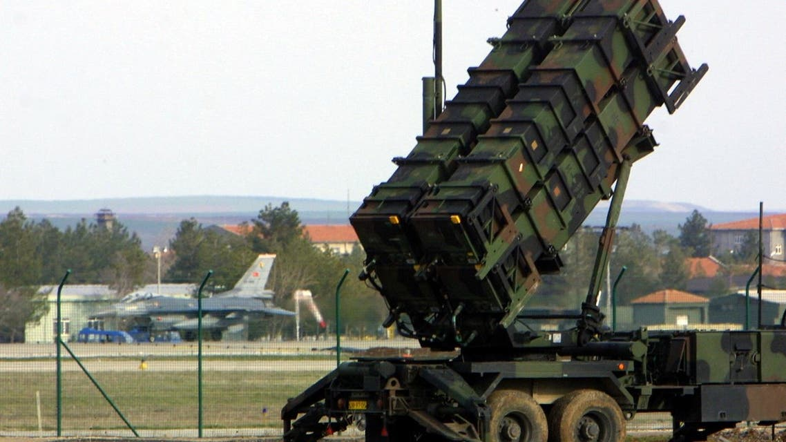 A Patriot anti-missile battery launcher, deployed by Dutch NATO soldiers, is seen 11 March 2003 at the Diyarbakir military airport in southeastern Turkey. Dutch NATO sodiers are in charge of monitoring Turkish skies with Patriots, placed 200 kms from the border with Iraq.