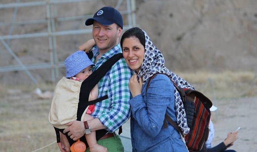 نازنين مع زوجها وطفلتها (أرشيفية)