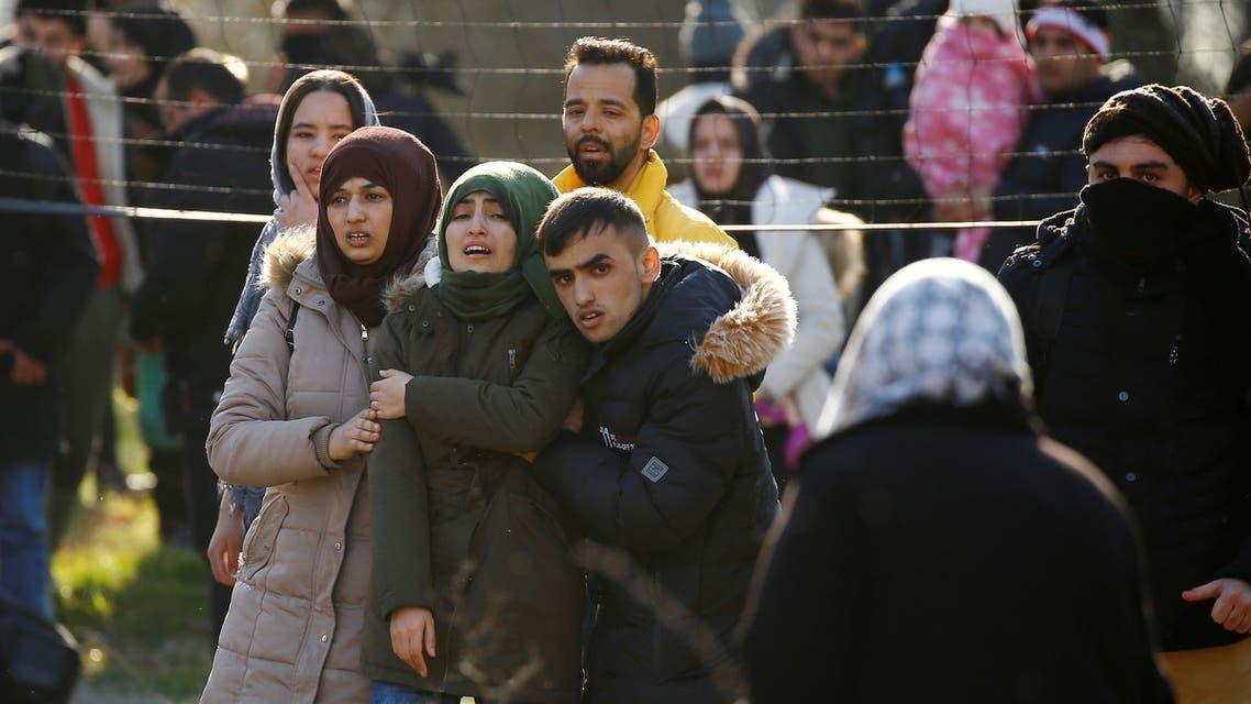 مهاجرون الحدود التركية اليونانية
