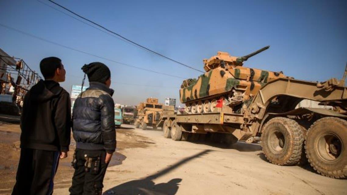 آليات تركية في إدلب  (فبراير- فرانس برس