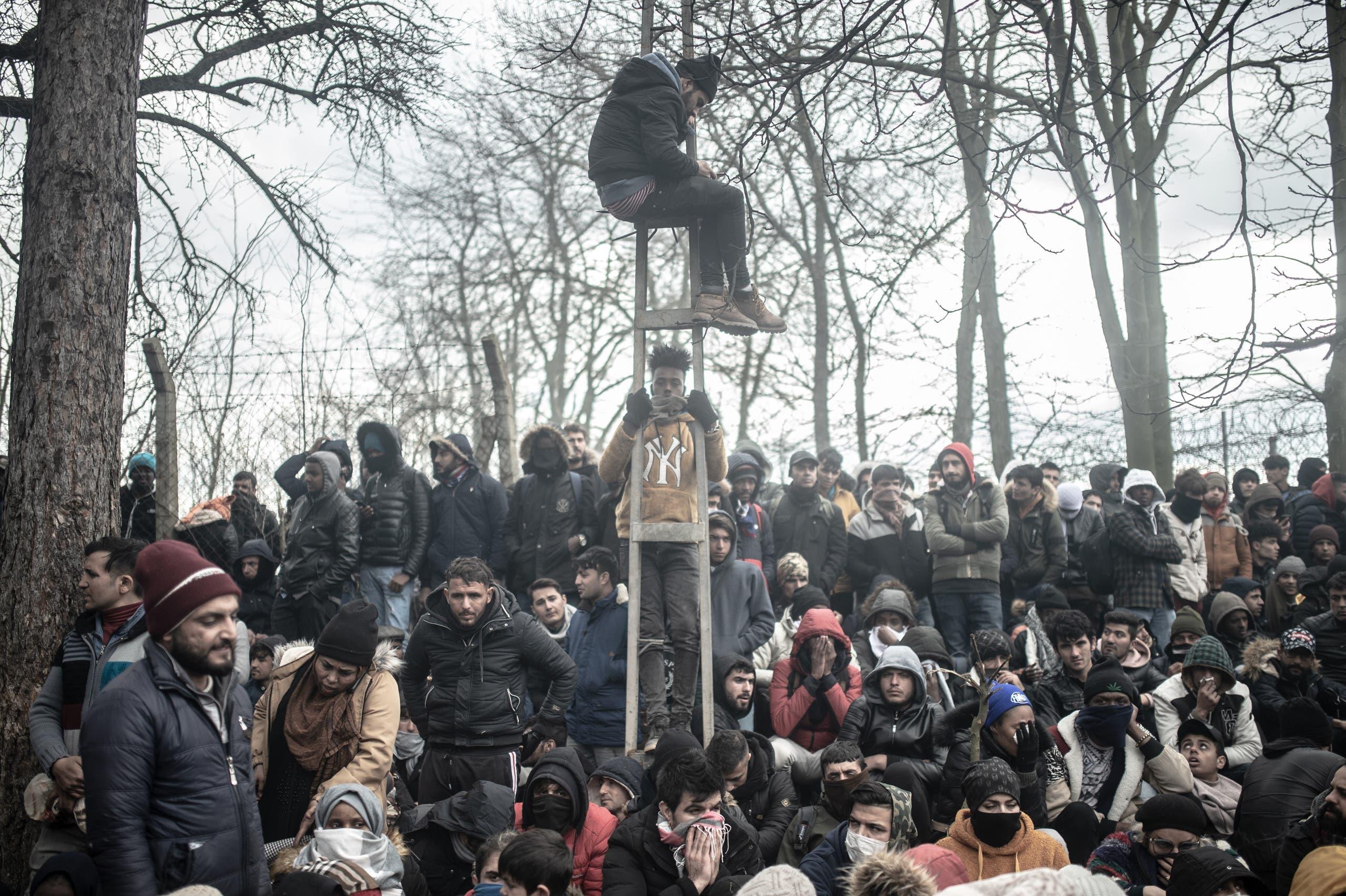من الحدود اليونانية التركية (29 فبراير- فرانس برس)