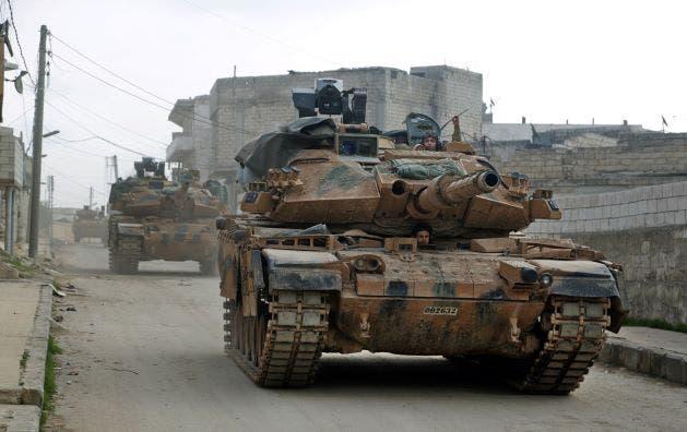آلية تركية في إدلب (فبراير- فرانس برس)