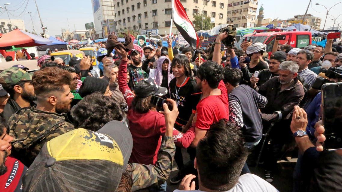 من ساحة التحرير في بغداد (الاول من مارس- فرانس برس9