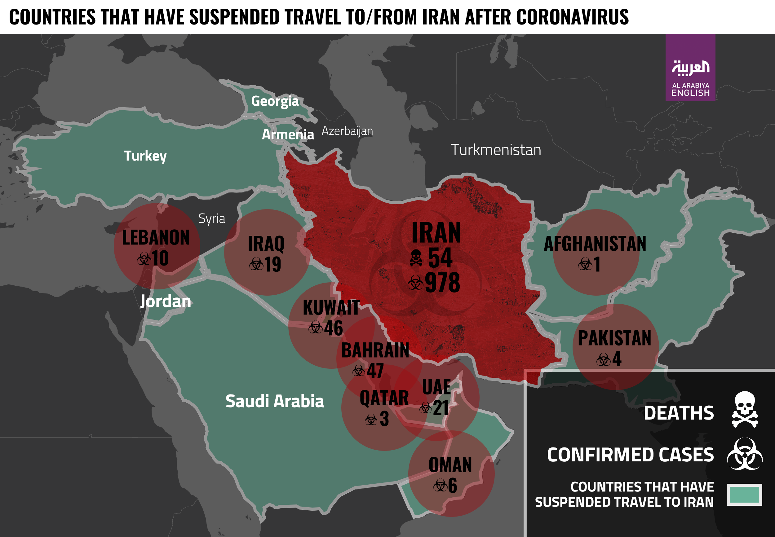 Iran coronavirus infographic latest update 2