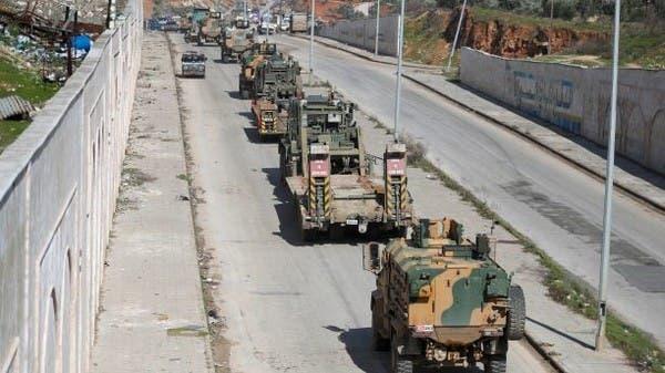 رتل عسكري تركي يقتحم أراضي سوريا صوب إدلب