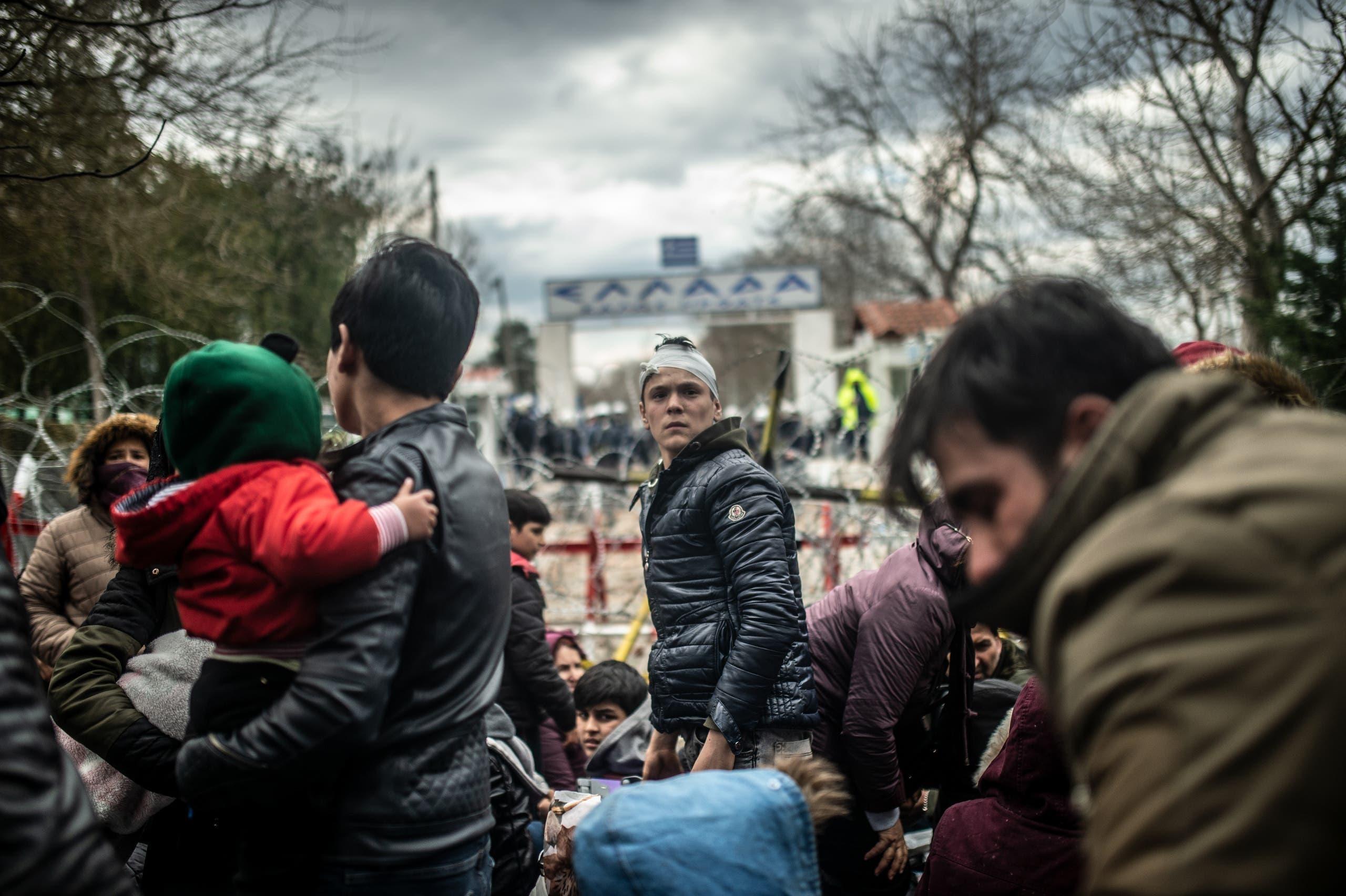 مهاجرون من تركيا إلى اليونان