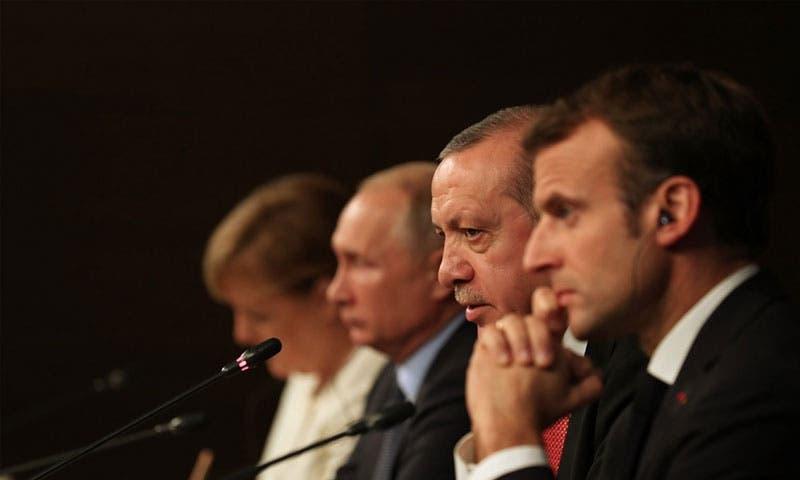 ماكرون أردوغان بوتين