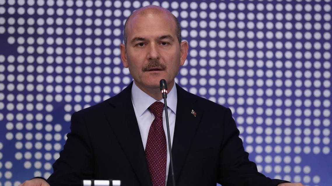 Turkey's Interior Minister Suleyman Soylu speaks during a meeting to discuss cooperation on migration management in Ankara, on October 3, 2019. (File photo: AFP)