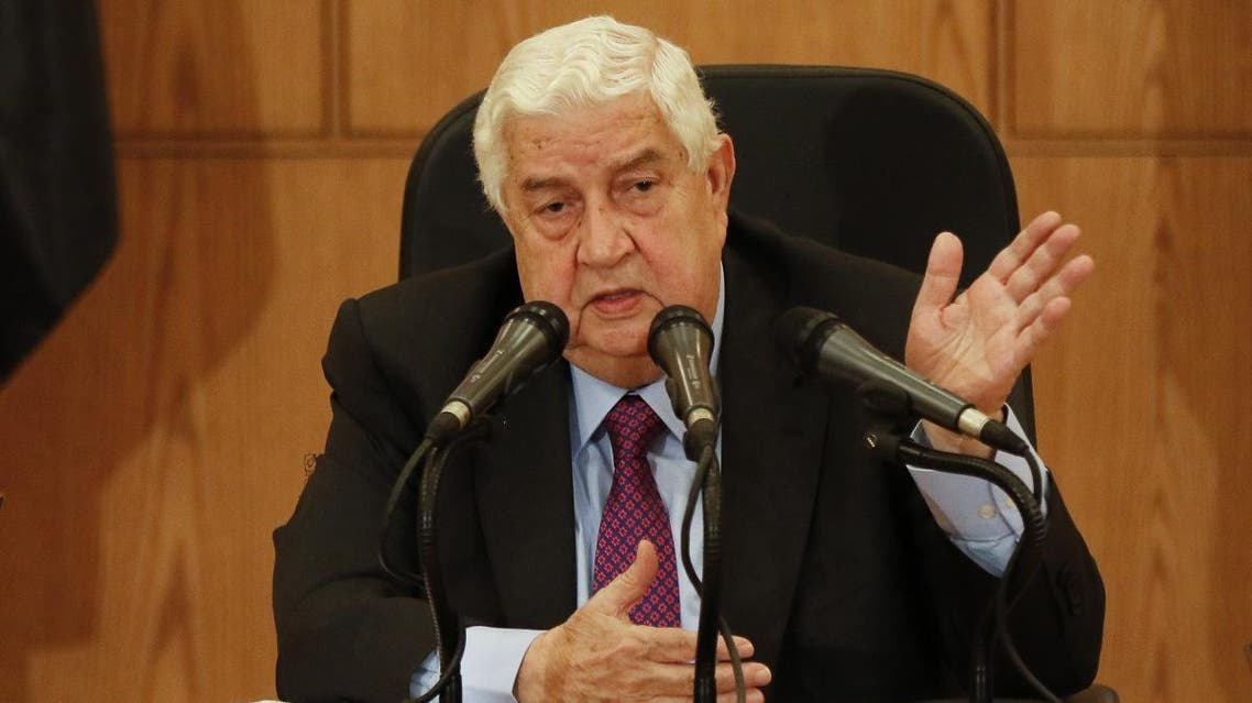Syrian Foreign Minister Walid Muallem speaks during a press conference in the capital Damascus on May 8, 2017. (File photo: AFP)