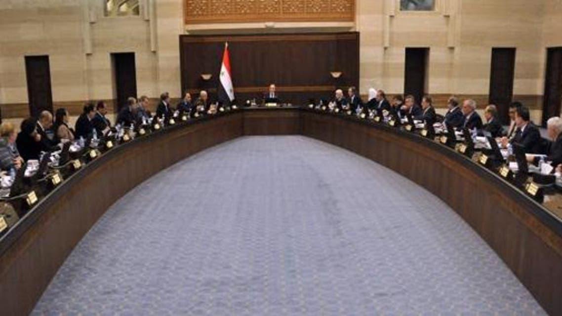 Syrian regime cabinet. (SANA)