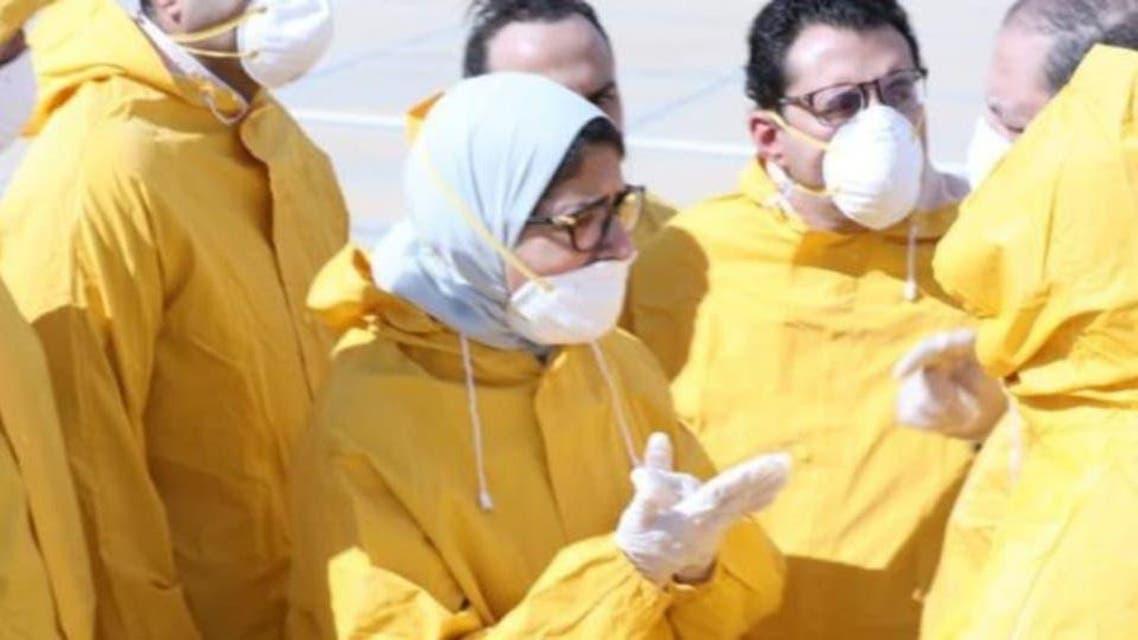 Egypt: lady minster vist china