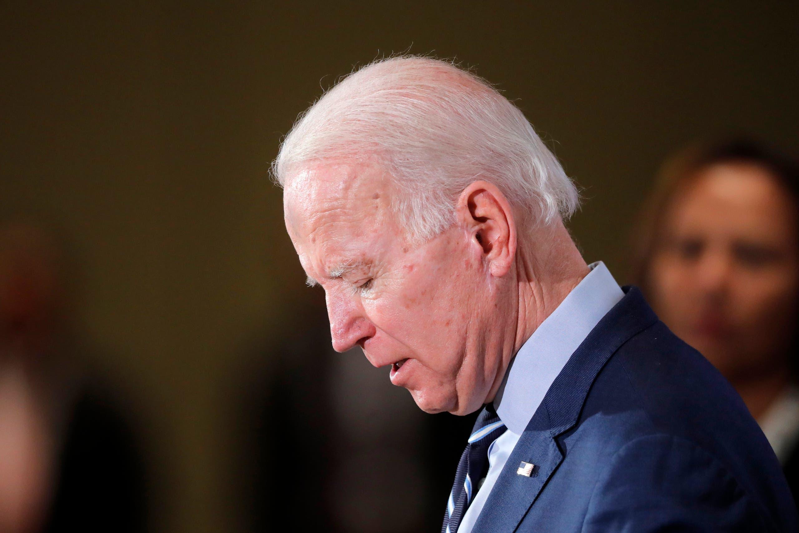 Democratic presidential candidate former Vice President Joe Biden in South Carolina on Feb. 26, 2020. (AP)