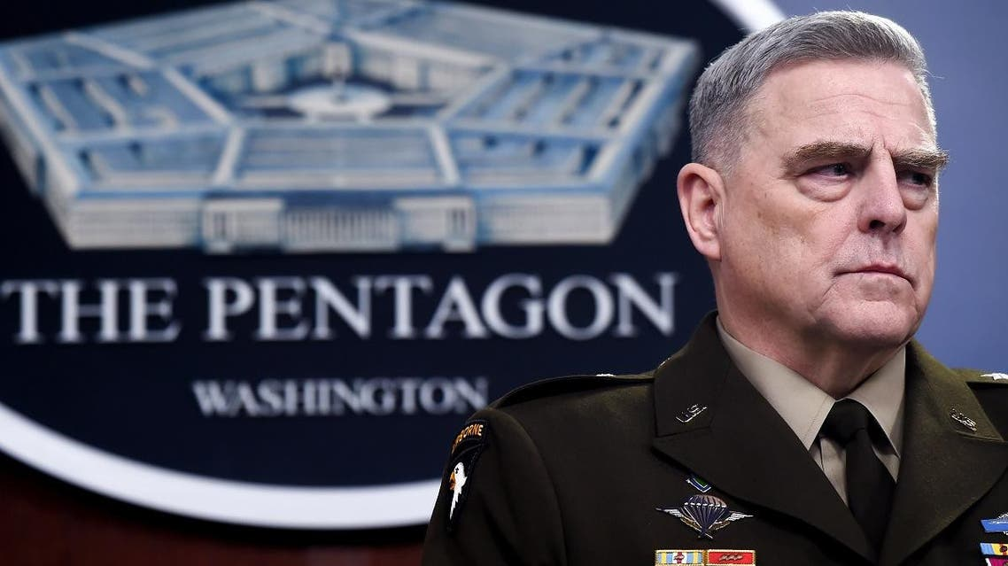 Chairman of the Joint Chiefs of Staff Army Gen. Mark Milley at a press briefing, March 2, 2020 in Washington. (AFP)