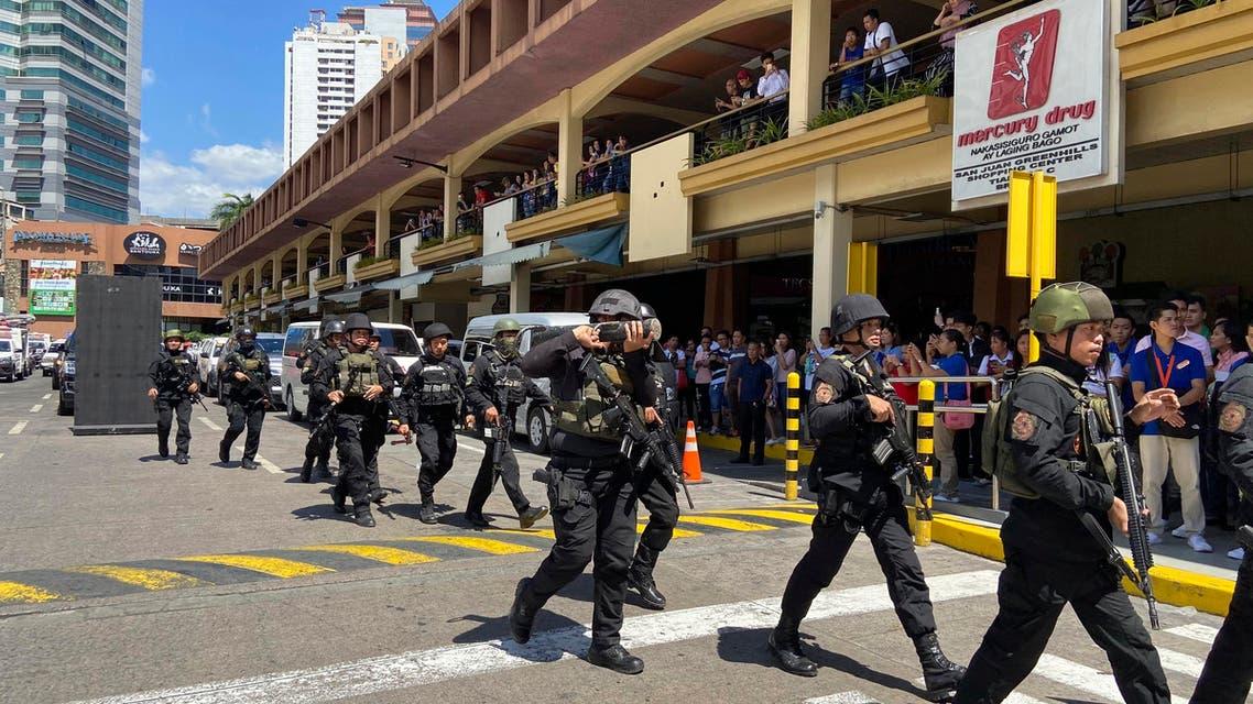 philippines siege shooting mall Manila - AP