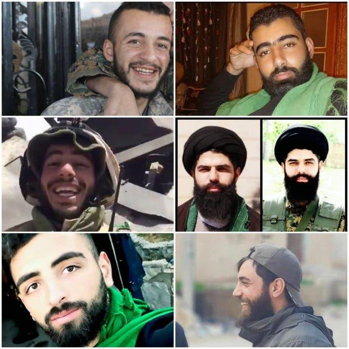 صور لقتلى حزب الله في إدلب