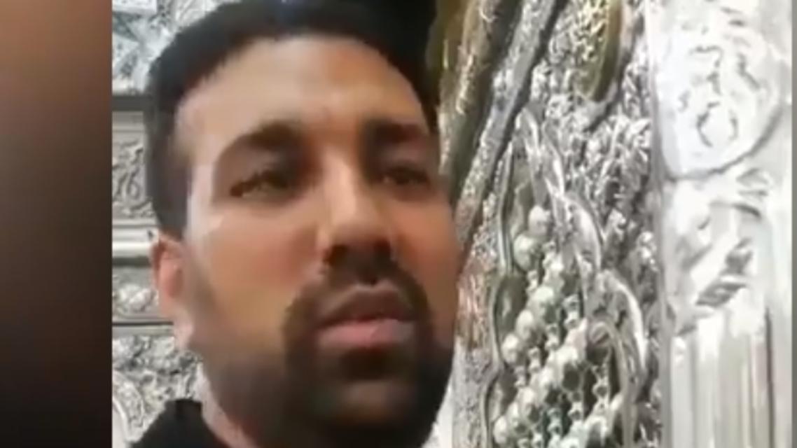 لاعق ضريح الامام الرضا في مشهد