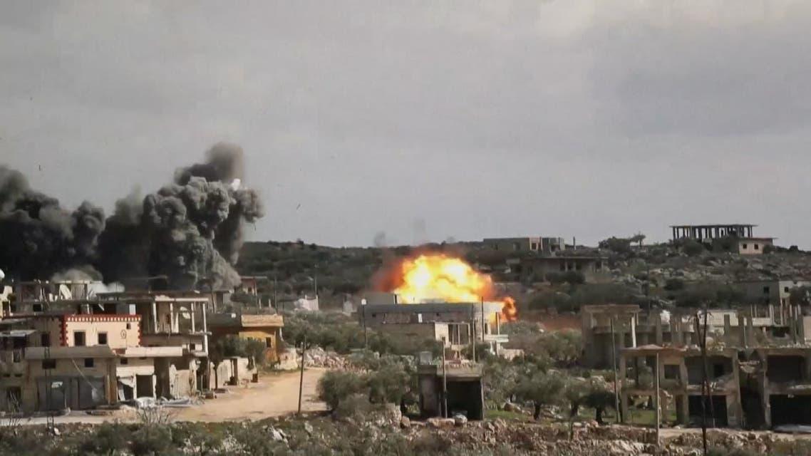 مشاهد صادمة.. قصف هستيري للنظام السوري على إدلب