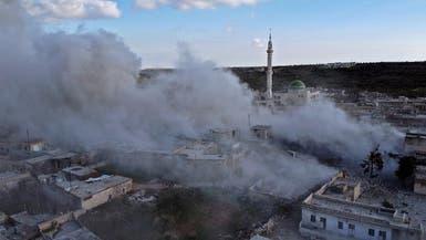 تركيا تسقط مروحية للنظام.. والفصائل تمثل بجثة الطيار