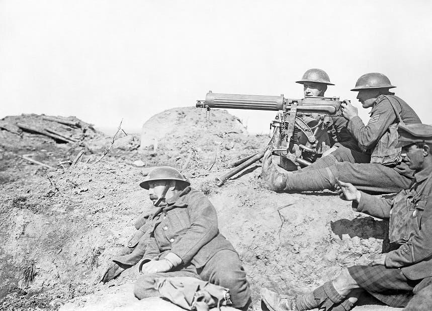 صورة لجنود بريطانيين بالحرب العالمية الأولى
