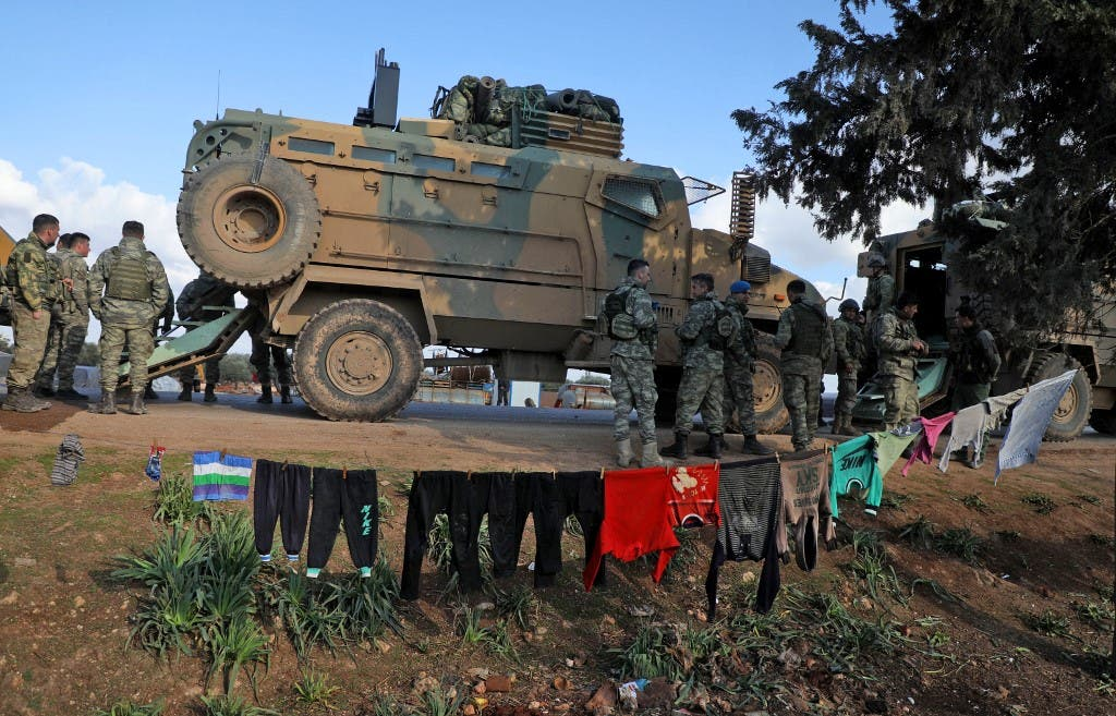 قوات تركية في إدلب (فرانس برس)