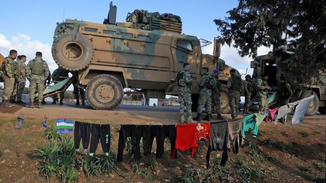 القوات التركية في إدلب (فرانس برس)