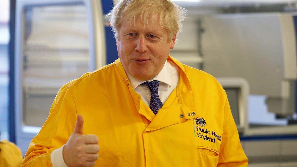 UK Boris Johnson visits health lab on March 1 - Reuters