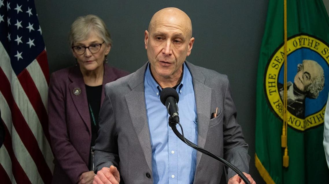 Dr. Jeff Duchin, a health officer with Seattle and King County Public Health, speaks during a press conference at Seattle & King County Public Health on February 29, 2020 in Seattle, Washington. (AFP)