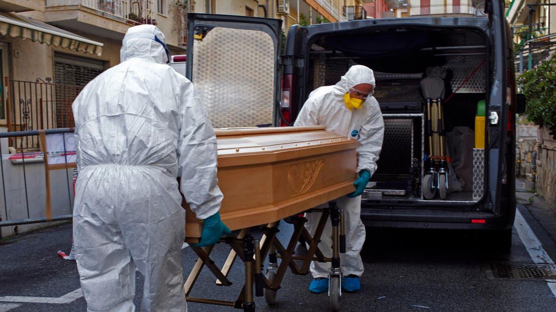 Corona virus outbreak in Laigueglia, northwest Italy, March 1, 2020 (AP)
