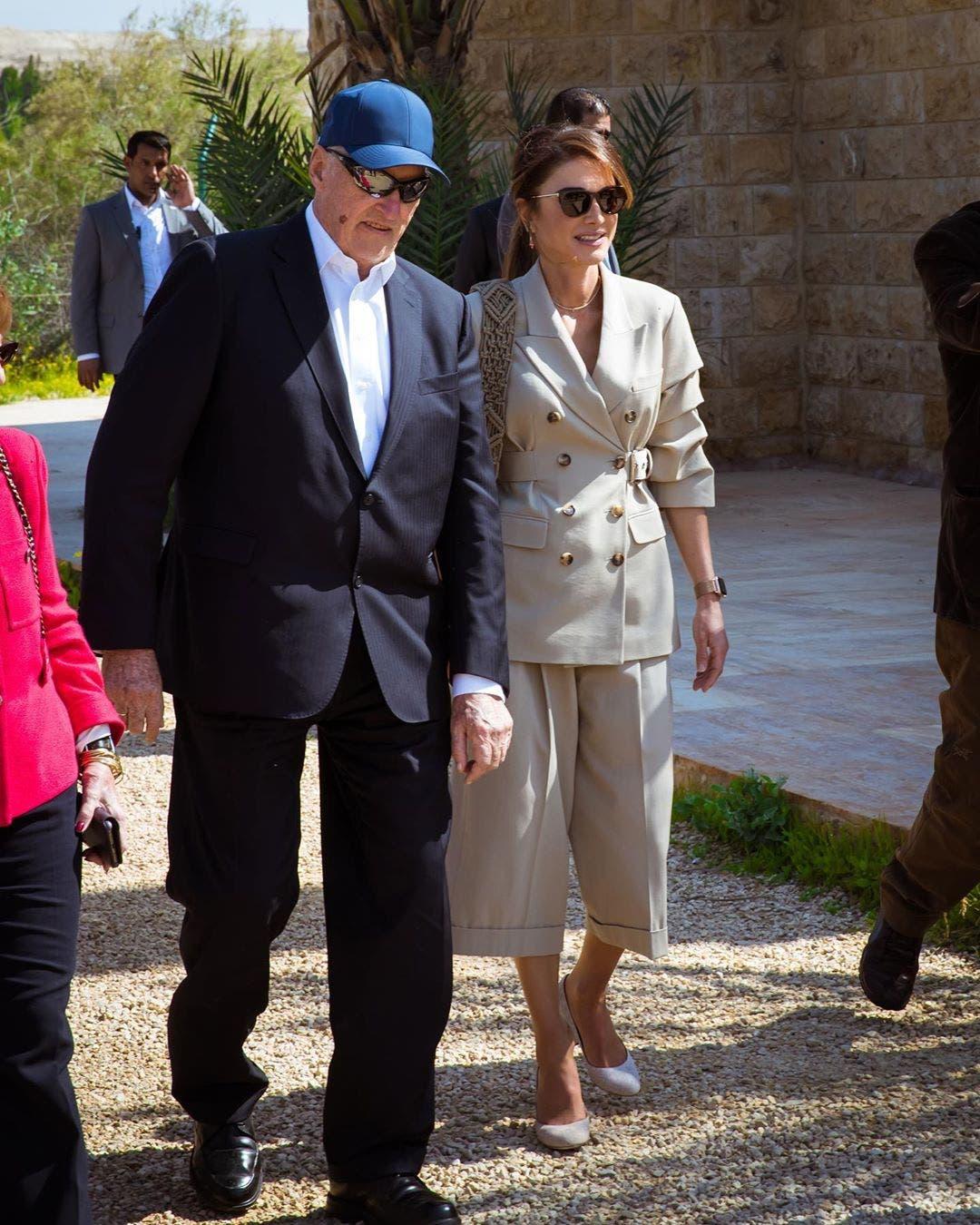 الملكة رانيا برفقة هارالد ملك النرويج