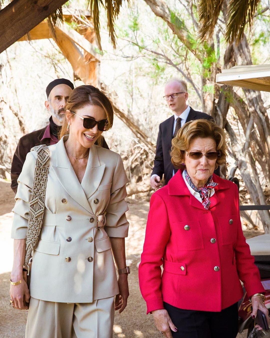ملكة النرويج وملكة الأردن في زيارة إلى مغطس السيد المسيح