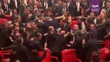 ترک پارلیمان حز بِ اختلاف کی صدر ایردوآن پر تنقید کے بعد مچھلی منڈی میں تبدیل