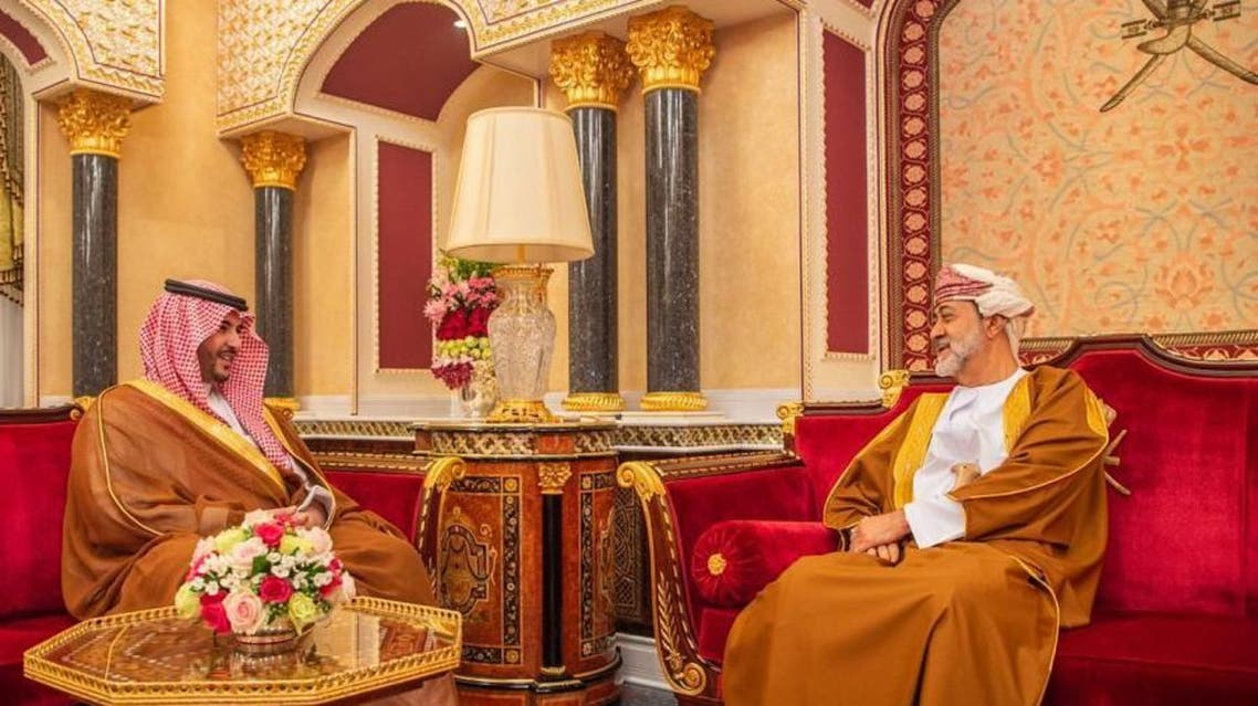 Oman's Sultan Haitham receives Saudi Arabia's Deputy Minister of Defense