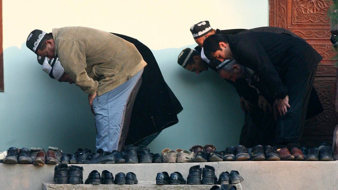 Men pray during Kurban-Ait, also known as Eid al-Adha in Arabic, at a mosque in the village of Nurabad, some 40 km (25 miles) west of the capital Dushanbe, November 16, 2010. (Reuters)