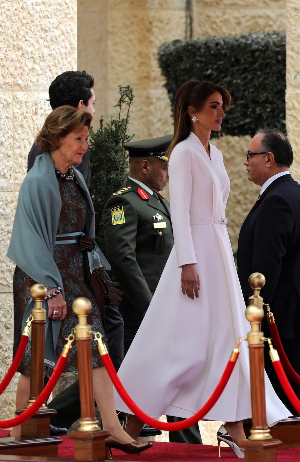 الملكة رانيا تستقبل صونيا ملكة النرويج