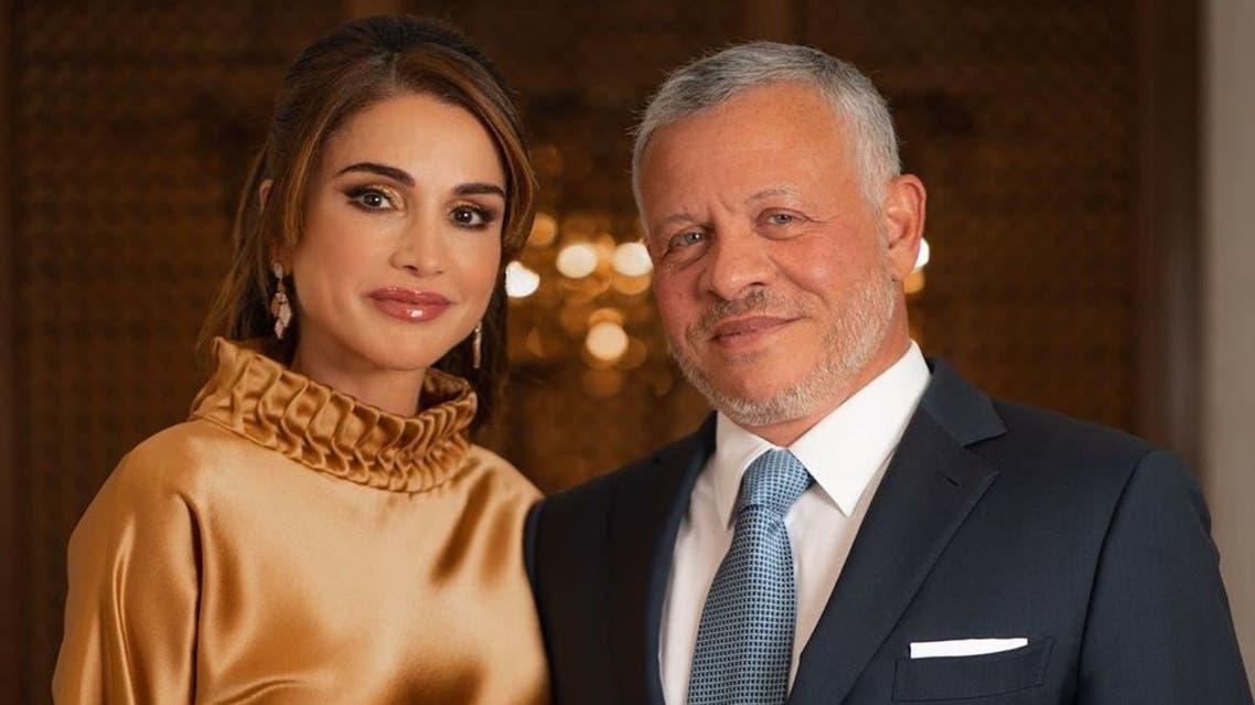 الملك عبدالله والملكة رانيا