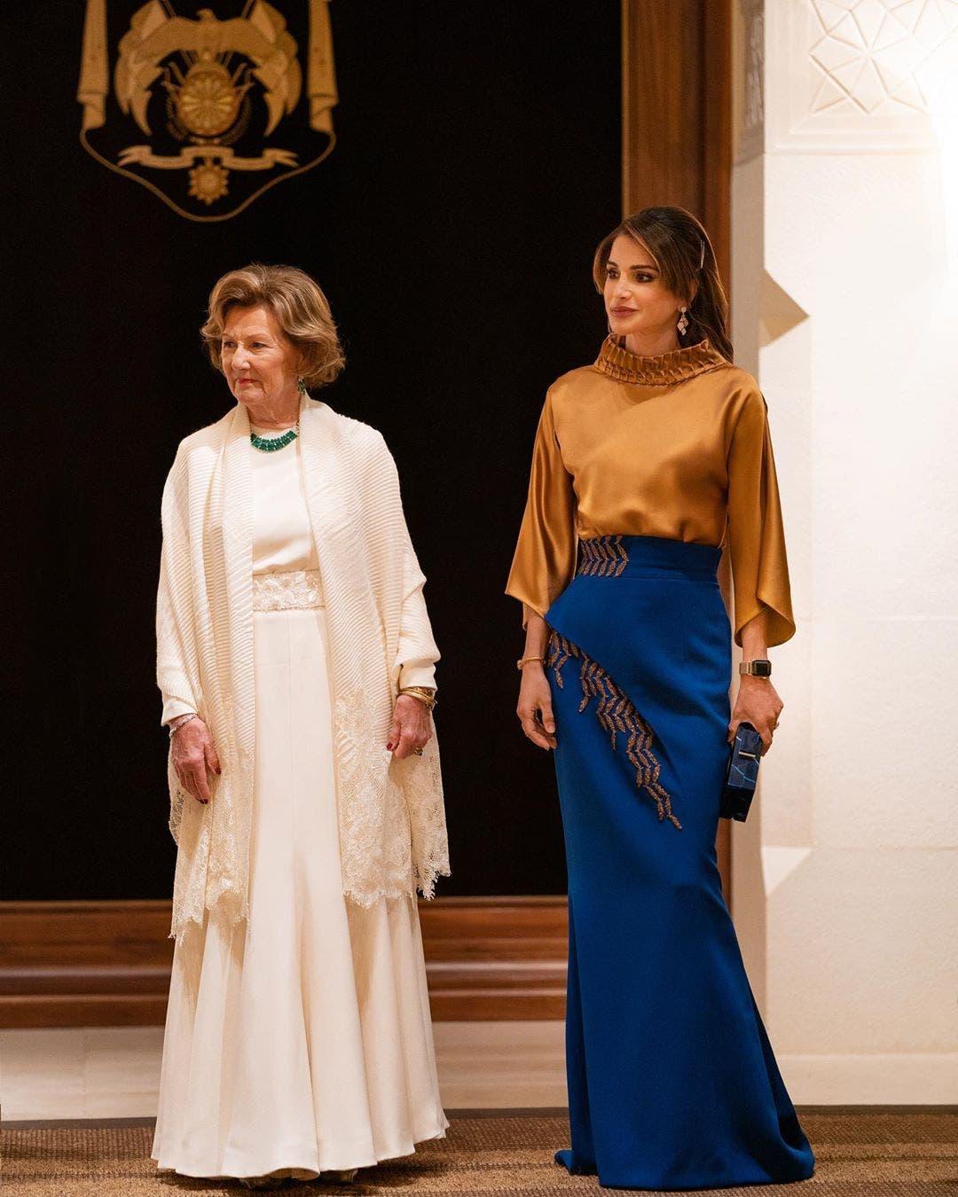 الملكة رانيا وصونيا ملكة النرويج