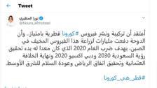 Twitter user ridiculed for insinuating coronavirus is a 'Qatari plot'